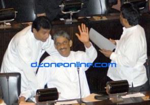 Sarath Fonseka in Parliament