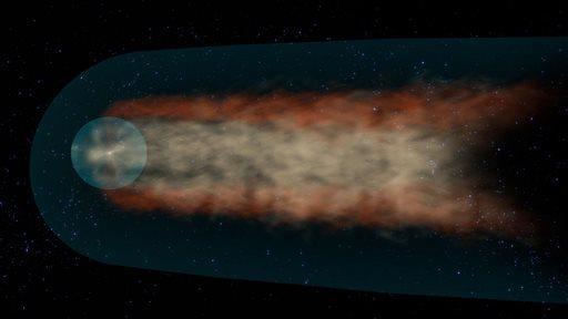 Solar system tail