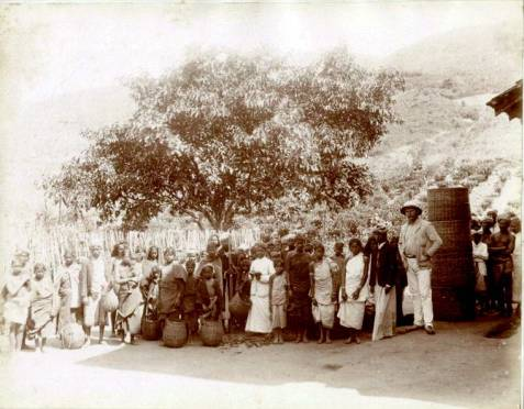 18th Century Ceylon Tea Estate workers 1870s