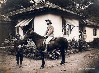 A Tea Planter at Gampola Rest House, Ceylon